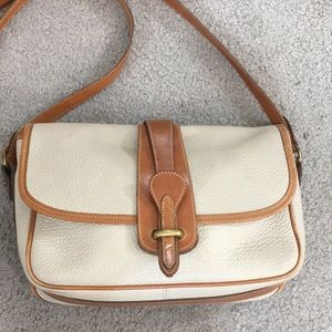 Dooney & Bourke all weather leather creme tan bag
